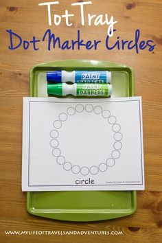 My Life of Travels and Adventures: Circle Themed Tot School - Dot Marker Circles Toddler Learning, Fun Learning, Toddler Activities, Learning Activities, Shape Activities, Preschool Schedule, Preschool Activities, Preschool Shapes, Preschool Curriculum