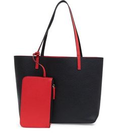 Red Purse and Reversible Shopper Bag  | New Look
