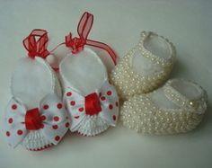 kit com 2 sapatilhas de croche