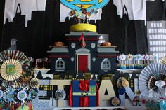 POLICE STATION CAKE STAND.  When I Grow Up - Super Hero / Police Officer Birthday Party | CatchMyParty.com