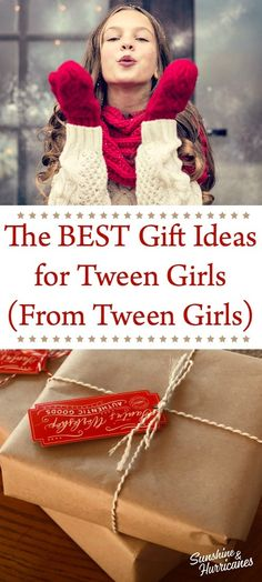 Tween Girl Gifts can be so hard to buy! You never know for sure exactly what they might like, but we went straight to the source for these great gift ideas. Gifts For Teen Boys, Tween Girl Gifts, Gifts For Teens, Christmas Gift List, Christmas Crafts, Christmas Ideas, Toddler Bike, Raising Girls, Experience Gifts