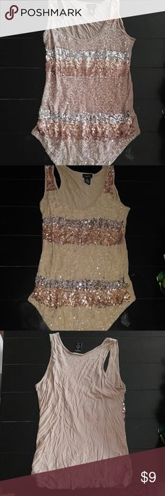Sequin tank Brown and ran sequin tank with solid back Rue 21 Tops Tank Tops