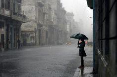 lonely girl under the umbrella