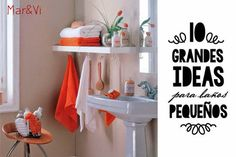 10 ideas para organizar baños pequeños