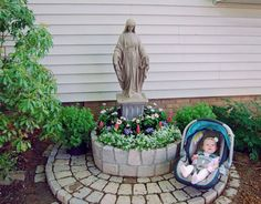 """THIRD RUNNER UP:  2014 Catholic Garden Photo Contest  """"Lucy in Mary's Garden on Mother's Day""""  Prize: $50 gift card to www.catholiccompany.com"""