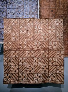 Pacific Islands bark cloth from the collection of the Denver Art Museum