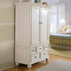 Love this white American Drew Camden Armoire. It is large enough to use as a tv cabinet in either a living room, study, or bedroom. Or use as a linen closet in the hall. Great Piece of furniture. Baby Armoire, White Armoire, Tv Armoire, Armoire Wardrobe, Computer Armoire, Wardrobe Closet, Wardrobe Furniture, Furniture Decor, Bedroom Furniture