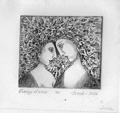 Energy of Love Etching 4x4.5 in 2014