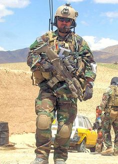 This is an American Airman. Meet Capt Barry Crawford, USAF. He is  a Combat Control team officer photographed here in Afghanistan, where for ten hours, his Army colleagues under intense fire, he coordinated an air war against the enemy that finally forced them to retreat. He will receive the Air Force Cross.