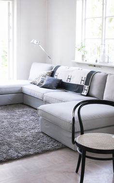 Please Visit 39 Fantastic Light Gray Sofa Living Room Post to Read Full Article. Living Room Grey, Living Room Sofa, Living Room Interior, Home And Living, Living Room Furniture, Living Room Decor, Family Room Colors, Ikea Couch, Contemporary Sofa