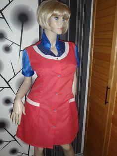 Nylon Kittel Schürze Nylon Glanz Blouse Frisör Hauskleid Kleid Apron Overall | eBay