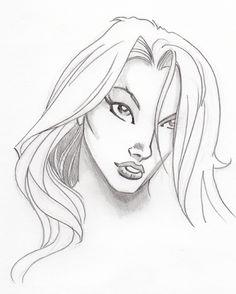 Drawing Faces Comics Comic Book Female Face Sketch