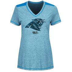 Majestic Carolina Panthers Women s Blue Bright Lights V-Neck T-Shirt 91d3b754cfbf