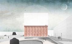 Gewünscht wurde von der Jury der Entwurf eines Deutschen Architekturinstitutes: Das Konzept der FHWS überzeugte. (Entwurf FHWS / Jonas Virsik)