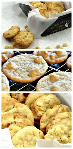 Macadamia & White Chocolate Cookies. Perfect with a cup of tea or glass of milk! A very easy cookie recipe.