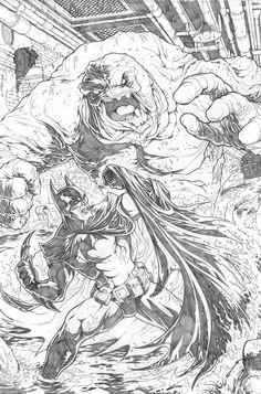 Batman v. Clayface by JeffWelborn.deviantart.com on @deviantART
