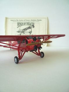 1929 Curtiss Robin Airplane Texaco Cast Metal Reproduction Bank MIB