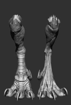 ArtStation - Pyrosuvious by Terryl Whitlatch, Aybars Turan Dragon Anatomy, Leg Anatomy, Monster Concept Art, Alien Concept Art, Fantasy Creatures, Mythical Creatures, Terryl Whitlatch, Character Concept, Character Design