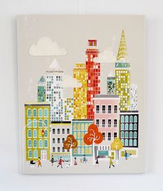 New York  Large Textiles Canvas Print by lauraamiss on Etsy, €110.00