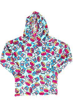Confetti and Friends Fuzzy Fleece Hoodie - Donut & Frappe