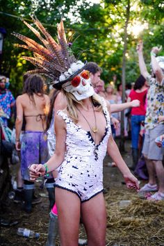 Wilderness festival attire. Like the mask and idea of wilderness festival minus all the litter etc
