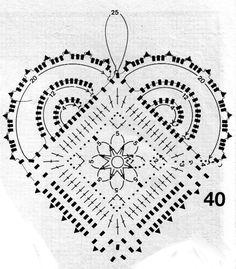 various Christmas motifs charted. Haret crochet pattern