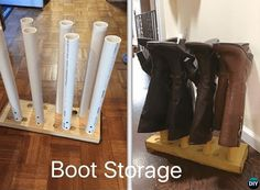 PVC Boot Storage-20 PVC Home Organization and Storage Projects
