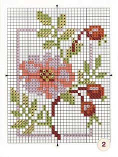 Wild Rose with Pips Mini Cross Stitch, Cross Stitch Cards, Beaded Cross Stitch, Cross Stitch Rose, Cross Stitch Flowers, Cross Stitching, Cross Stitch Embroidery, Embroidery Patterns, Cross Stitch Designs