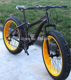Cheap bike roller, Buy Quality bike ornament directly from China bike stand Suppliers:  2Bicicleta 26x 4.0 Super Wide Flat Tire Bicycle Ciclismo Beach Cruiser    Snow Bike 7 Speeds Skibob Snow Mountain