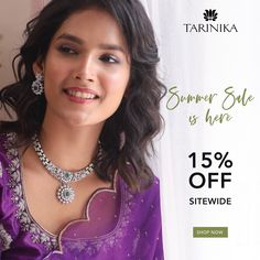 Big Summer sale is live. Shop gorgeous jewelry at 15% off only at Tarinika.com ❤️ Indian Jewellery Online, Indian Jewelry Sets, Jewelry Shop, Jewelry Stores, Live Shop, Temple Jewellery, Summer Jewelry, Bridal Sets, Summer Sale