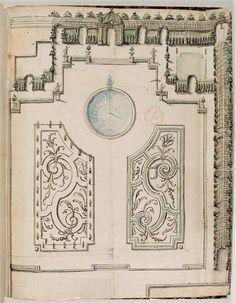 Plan de jardin d'hôtel - 17th C. / Paris, bibliothèque de l'Institut