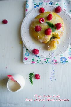 Sinfully Moist Tres Leches Cake with Basil Infused White Chocolate.