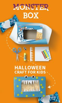 Promoted: Transform your Rice Krispies Treats box into a marshmallow-loving monster.