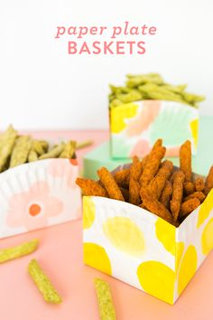 Diy paper plate basket tutorial diy home & more декор Diy And Crafts Sewing, Crafts To Sell, Diy Crafts, Paper Plate Basket, Paper Plates, Paper Basket Diy, Festa Party, Diy Party, Party Ideas