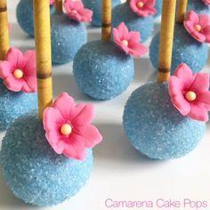 Moana Theme Cake Pops