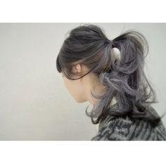 LuteさんはInstagramを利用しています:「lutelier snap 深みのあるグレーパープルのインナーカラー☆ #sasakilute #ササキリュト #lutelier #リュトリエ #hair #hairstyle #ヘアー #ヘアースタイル #cut #カット #color #カラー #snap…」 Snap Instagram, Hair Colour Design, Hair Arrange, Hair Color For Women, Hair Affair, Twist Ponytail, Scene Hair, Love Hair, Silver Hair