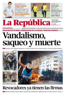 Nuestra portada de hoy: Viernes 26 de Octubre #Laparada