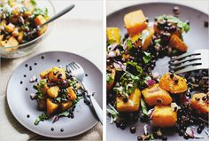 SAUTEED BELUGA LENTILS + BUTTERNUT SQUASH - SPROUTED KITCHEN - A Tastier Take on Whole Foods