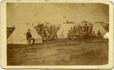 Louis Riel Photos Show Up At Australian Auction: A land survey party near the Red River Settlement.