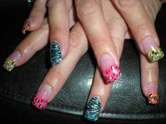 Animal print nail art so awesome - Red Unicorn Glam Nails, Neon Nails, Rasta Nails, Runway Nails, Gothic Nails, Beautiful Nail Polish, Animal Nail Art, Seasonal Nails, Holiday Nail Art