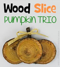 If you're looking for quick DIY Fall decorations these cute little rustic pumpkins are perfect! Make a set in minutes from wood slices. A wonderful gift!