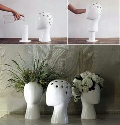 A possible use for my mannequin heads? And salon décor?