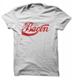 Enjoy Bacon - t-shirt, hoodies, long sleeves, v-neck - http://mycutetee.com/go/bacon-t-shirt.html