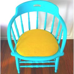 Another repolstered and repainted DIY chair - you have to love it!