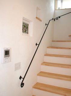 階段のオシャレな手すり