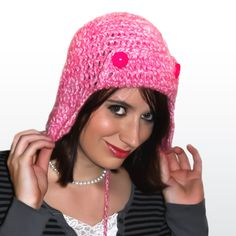 Crochet Aviator Ear Flap Bomber Beanie Hat in by AddSomeStitches, $25.00