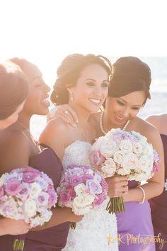 stunning bride and bridesmaids; photo: K&K Photography