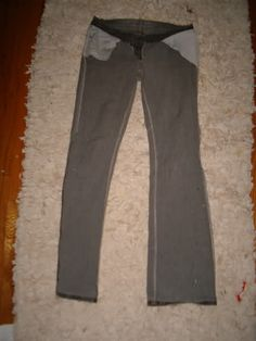 Flared Jeans into skinny jeans with tute! EDIT: PLENTY OF PICS ALONG WITH STEPS! - CLOTHING