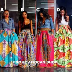 The African Shop-Skirts - African Wear Style African Inspired Fashion, African Print Fashion, Fashion Prints, African Prints, African Print Skirt, African Attire, African Wear, African Dress, African Style