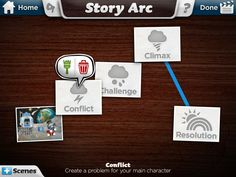 Consider using the Toontastic app to create a story arc to illustrate a historical event